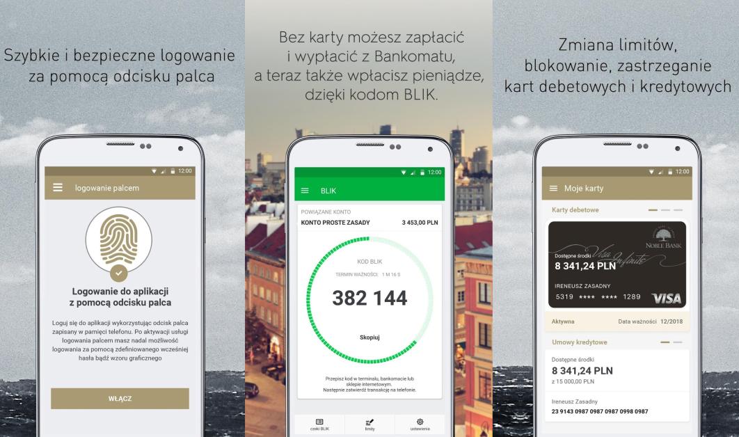 Aplikacje Getin Mobile, Noble Mobile w AppGallery - screeny z AppGallery