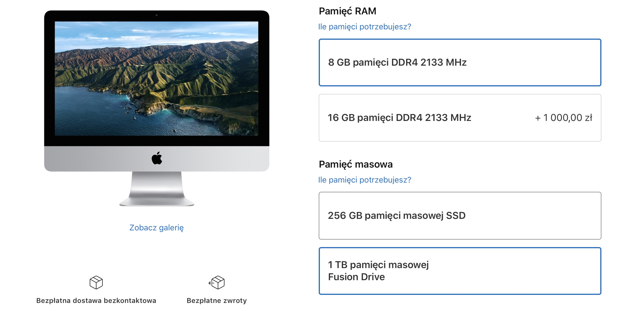 Apple iMac ograniczenie oferty