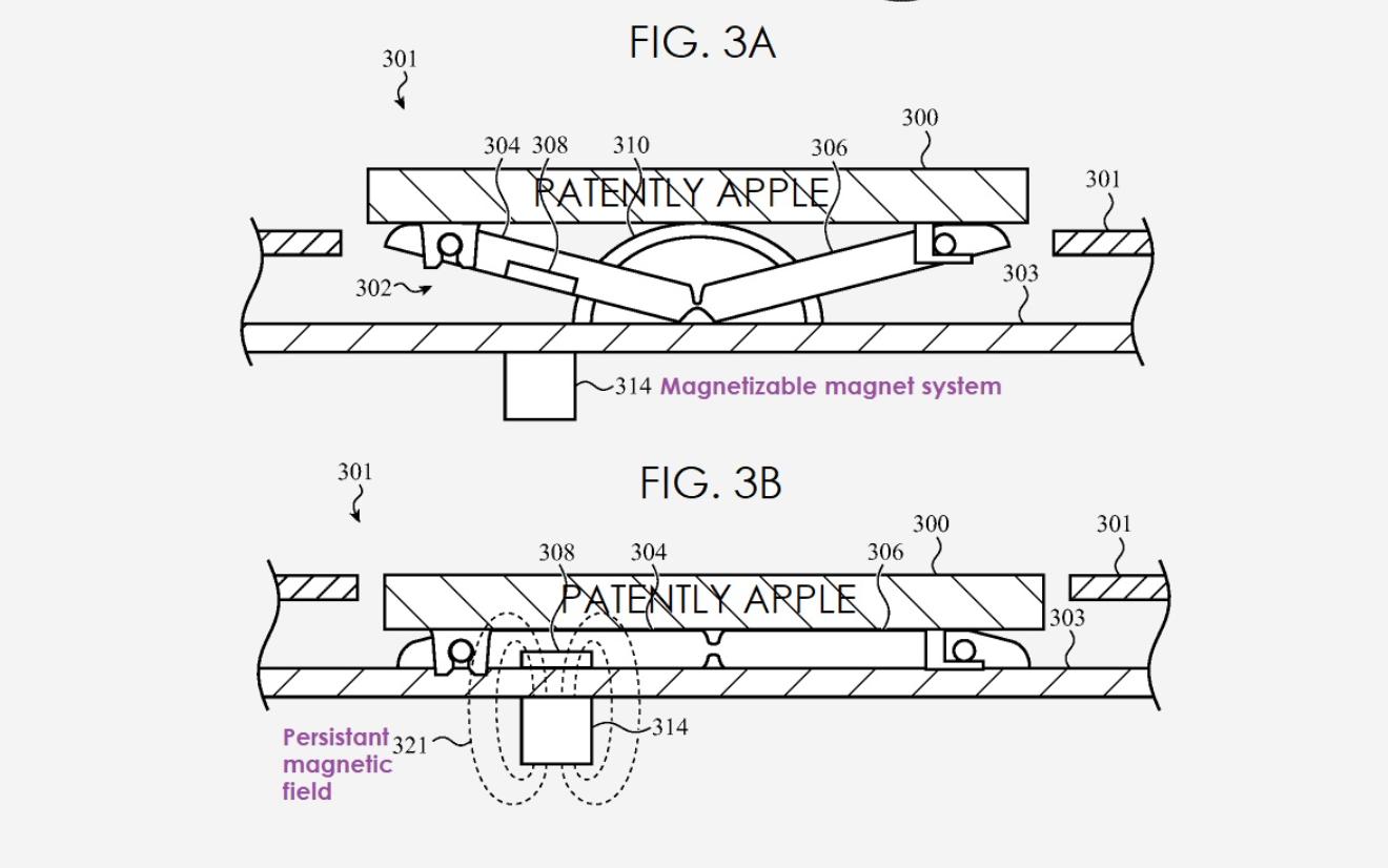 MacBook – klawiatura z magnesami.