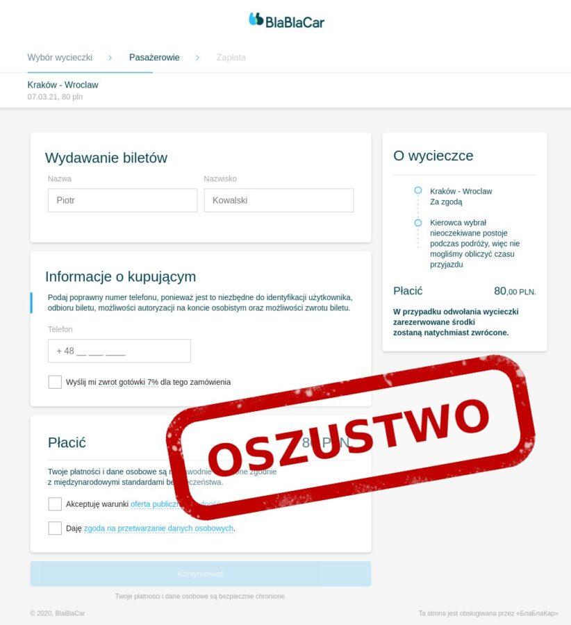 BlaBlaCar – nowe oszustwo CERT Polska