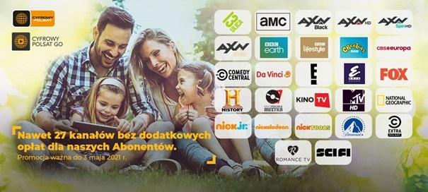 cyfrowy polsat - baner reklamujący otwarte okna