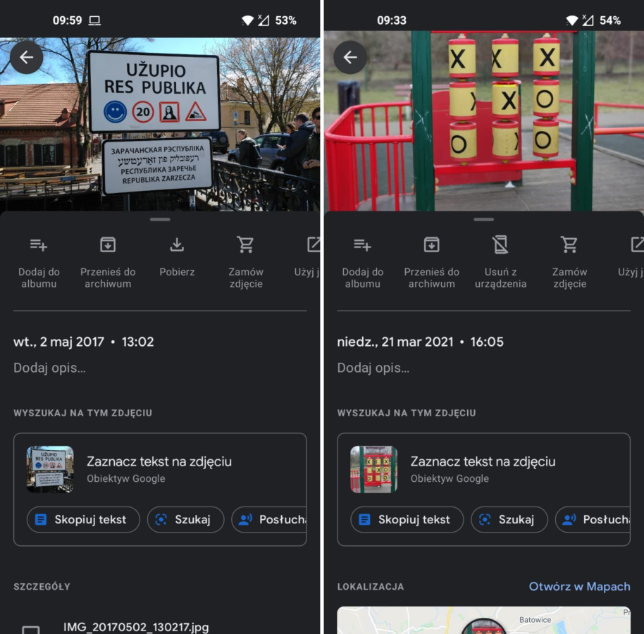 Google Lens w Zdjęciach Google - nowe opcje - fot. Tabletowo.pl