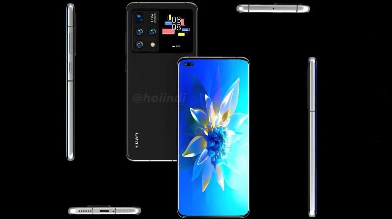 Huawei z dodatkowym ekranem fot. HoiINDI via GizChina