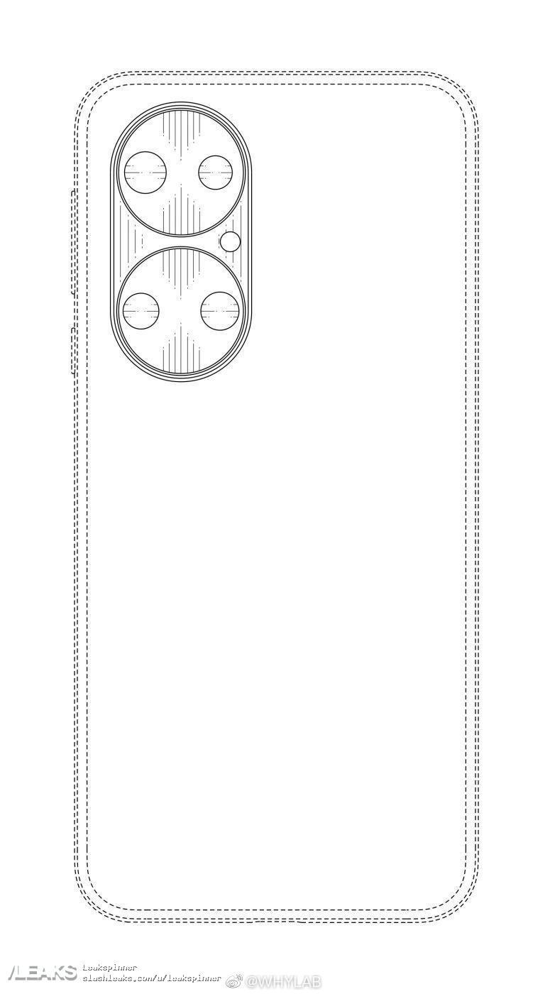 Schemat Huawei P50 tył/aparat