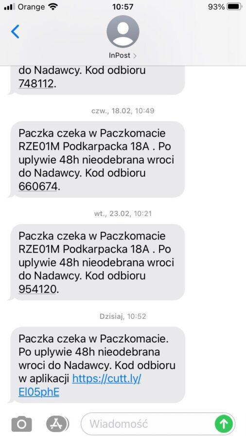 InPost Paczkomaty fałszywa wiadomość