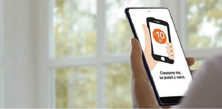 Baner promocji dla nowych użytkowników aplikacji Mój Orange
