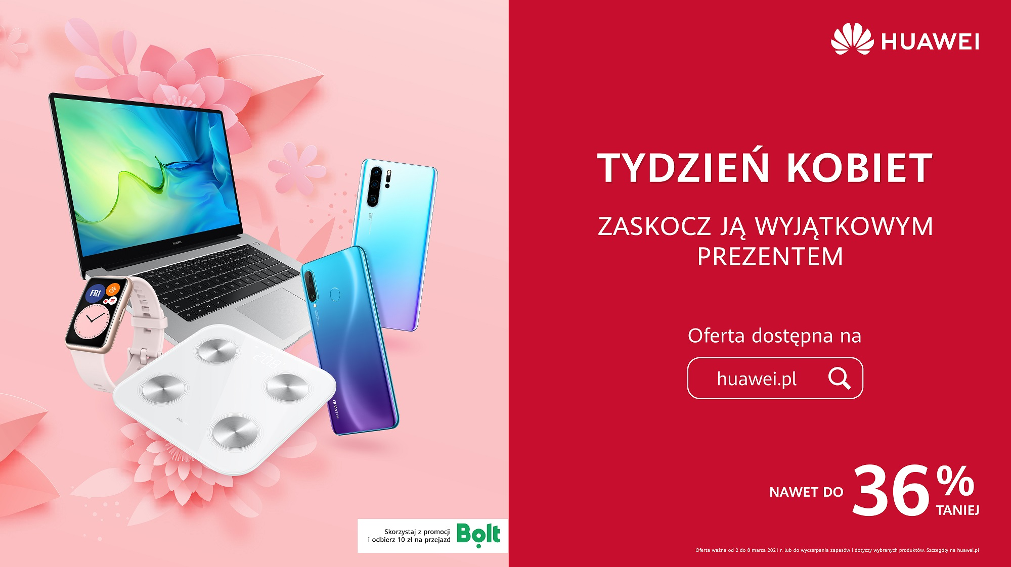 promocja Huawei na Dzień Kobiet 2021 Huawei P30 Pro