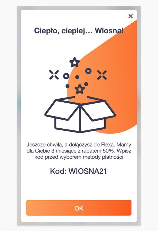 promocja Orange Flex za pół ceny przez 3 miesiące z kodem WIOSNA21