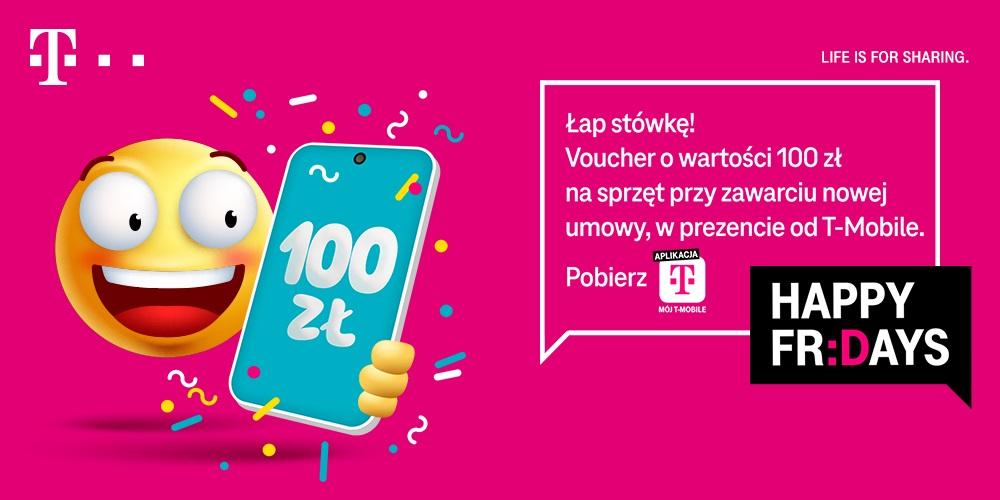 T-Mobile promocja voucher 100 złotych marzec 2021 Black Fridays