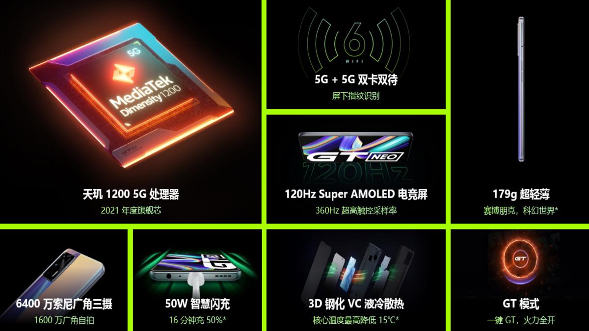 specyfikacja realme GT Neo specification