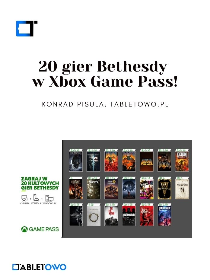 20 gier Bethesdy w Xbox Game Pass!