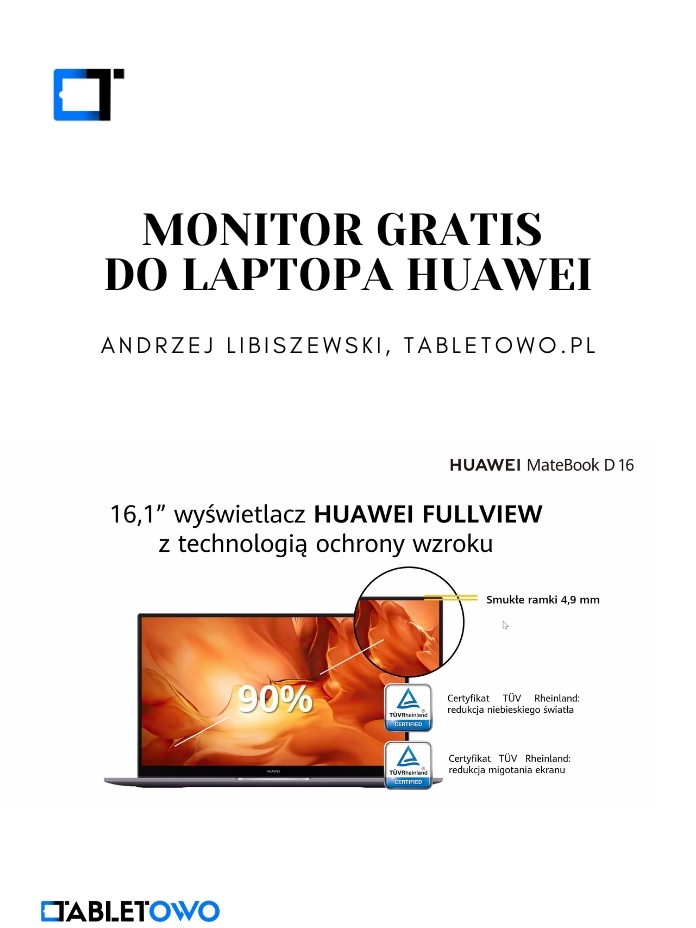 Monitor gratis do laptopa Huawei!