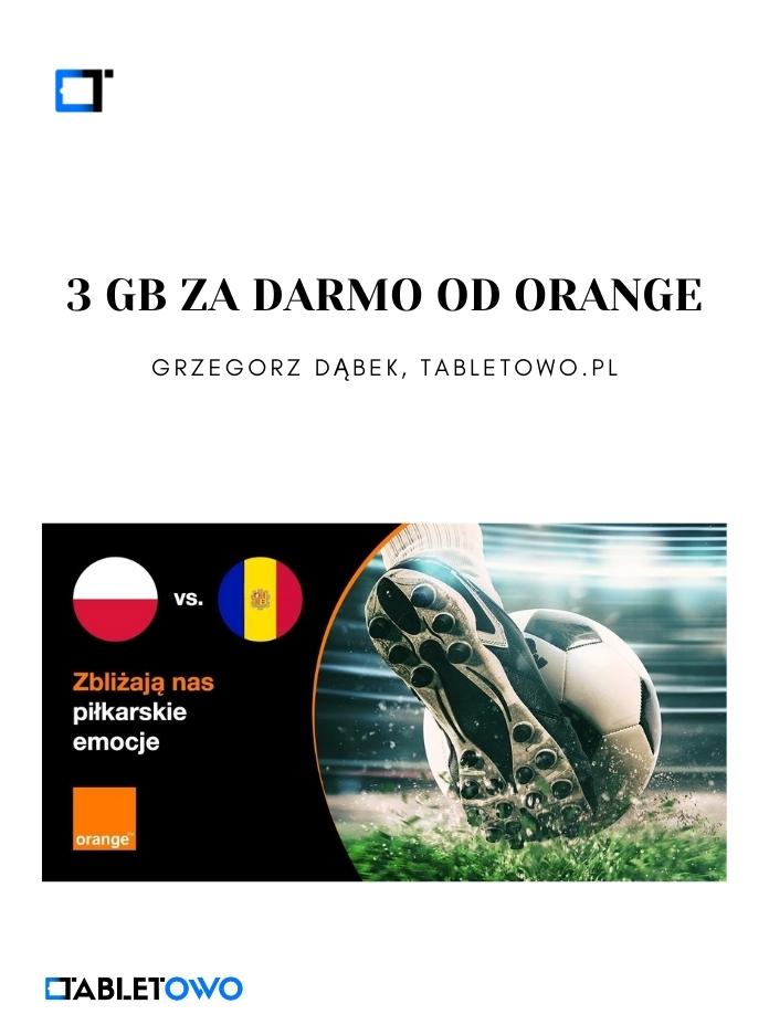 Darmowe 3 GB w Orange
