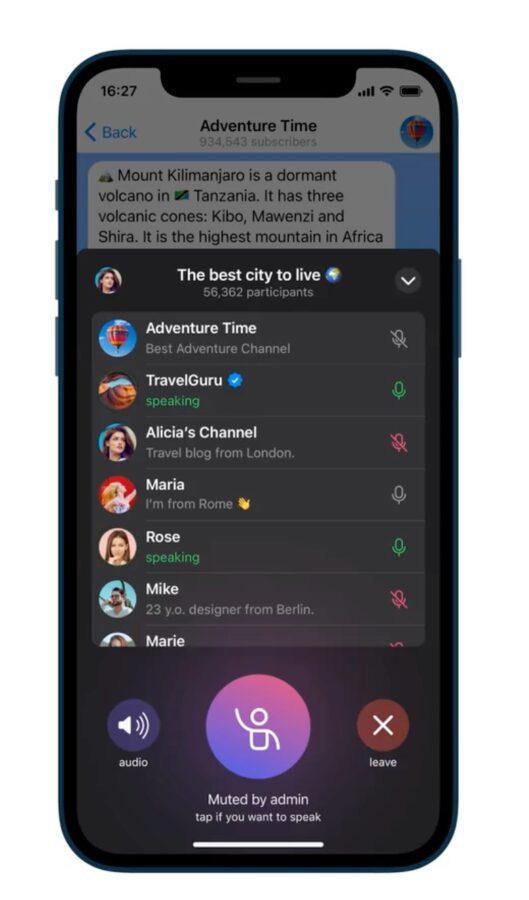 Telegram – czaty głosowe 2.0