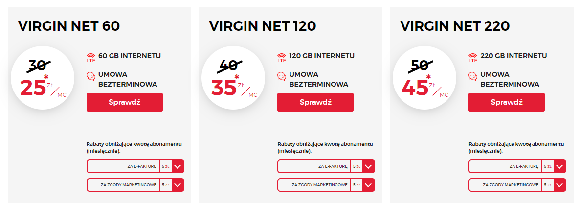 Nowa oferta Virgin Mobile na internet mobilny - Virgin NET