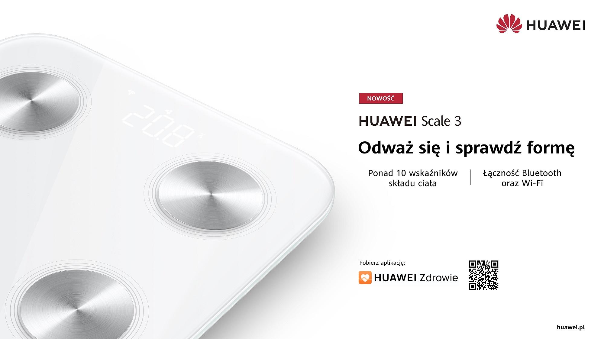 Waga Huawei Scale 3 trafia do sprzedaży w Polsce. Cena jest bardzo atrakcyjna