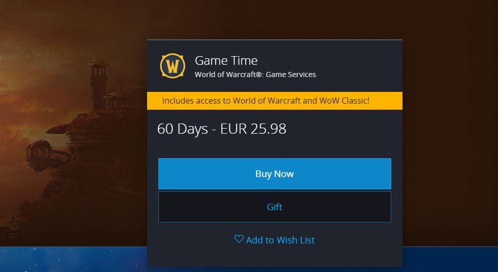Dwa miesiące w World of Warcaft? Poproszę.