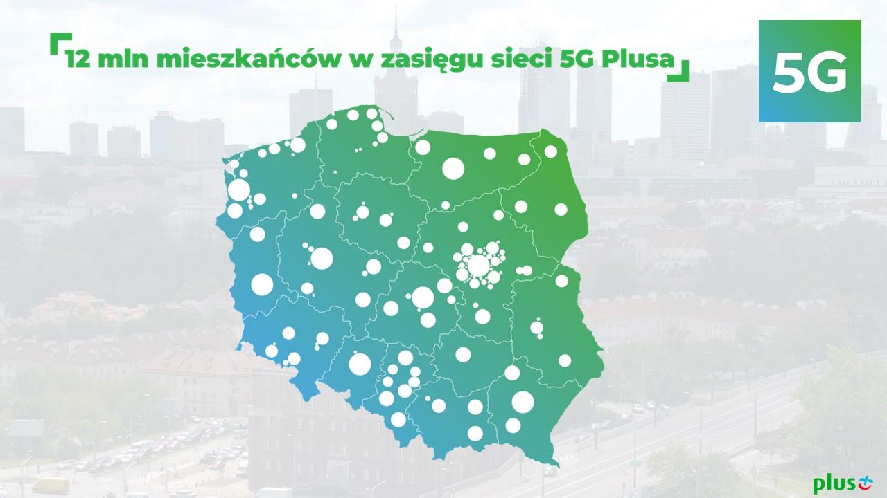 12 mln mieszkańców Polski w zasięgu 5G Plusa