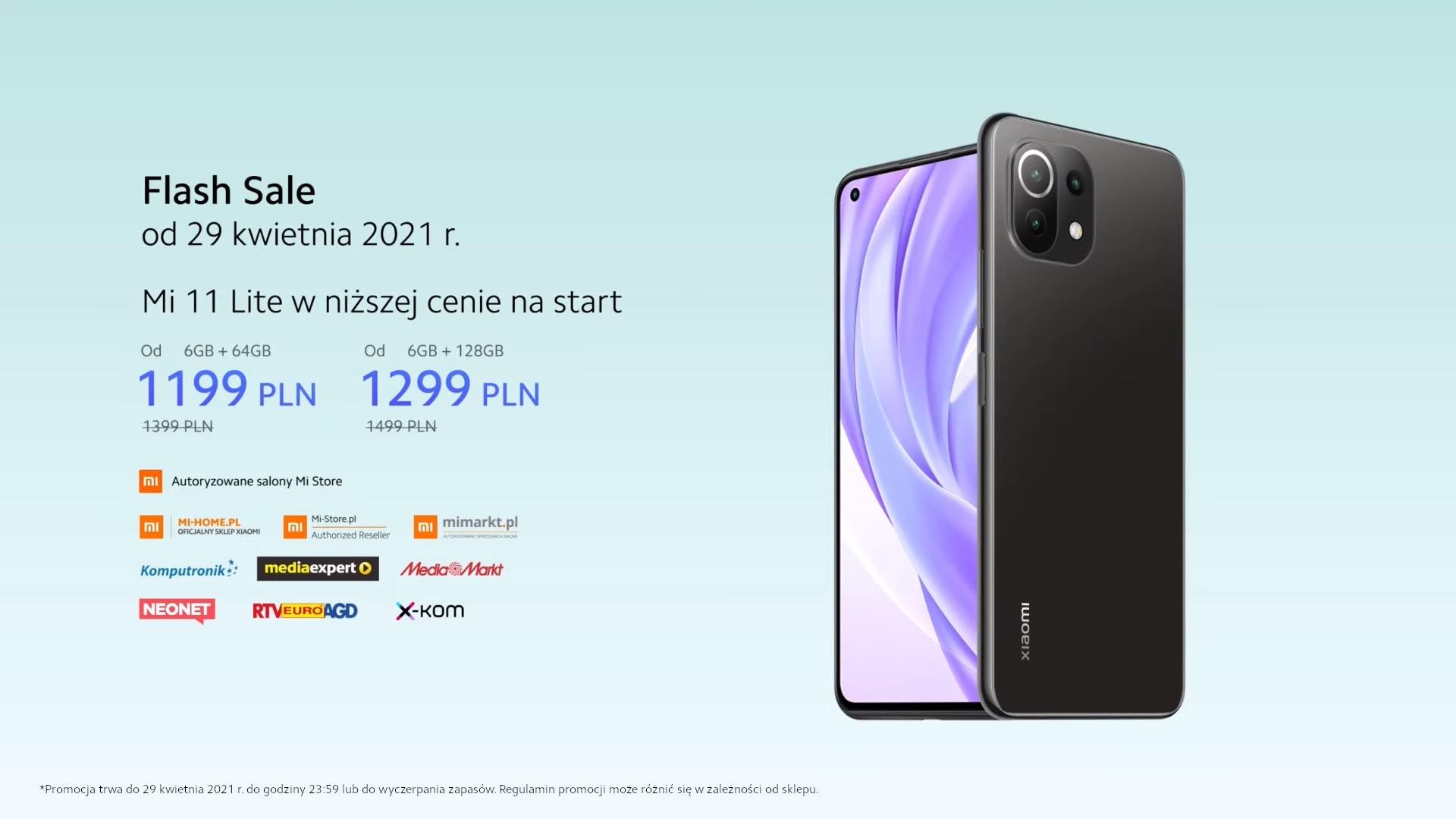 Flash sale Xiaomi Mi 11 Lite
