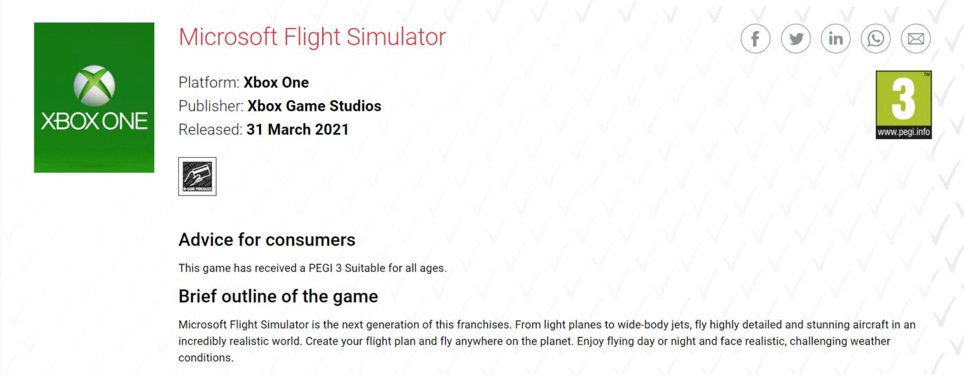 Microsoft Flight Simulator Xbox One