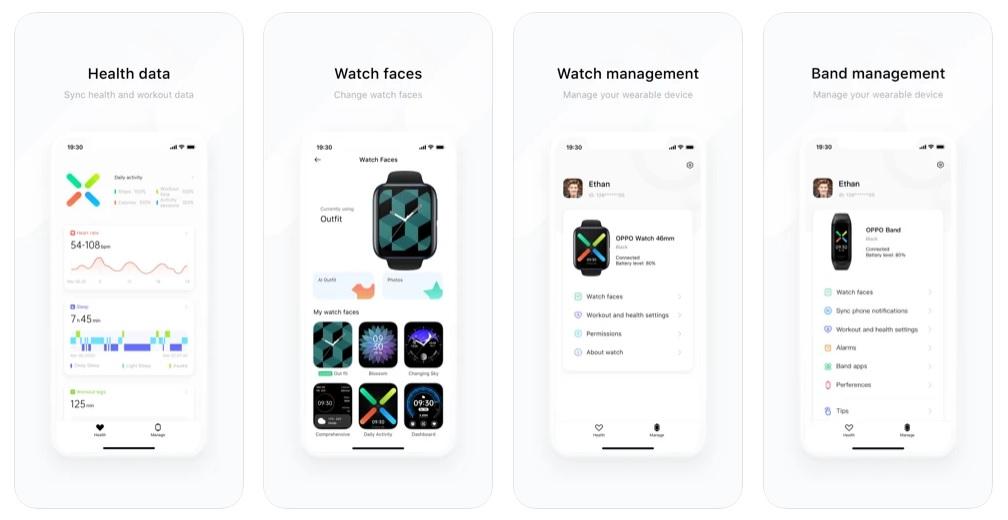 Oppo Watch aplikacja HeyTap Health (źródło App Store)