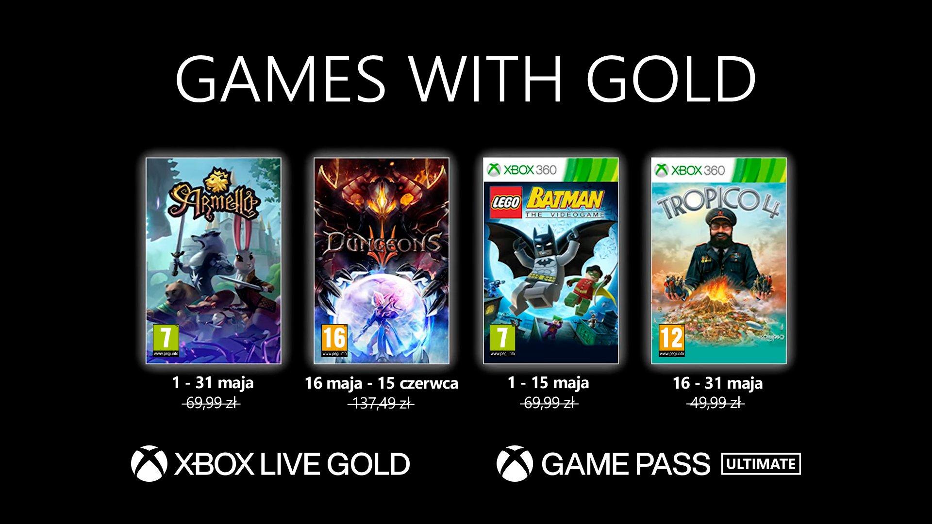 Microsoft Xbox Games with Gold Maj 2021