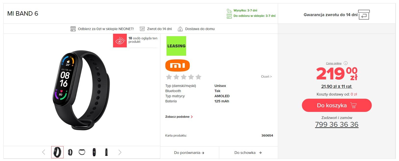 Xiaomi Mi Band 6 Neonet
