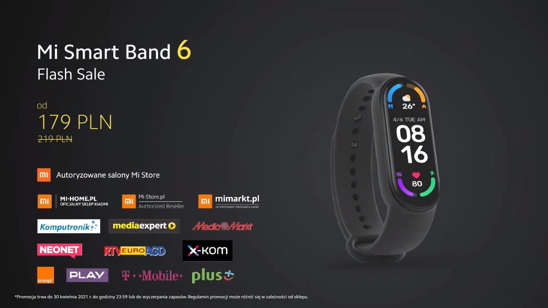 Xiaomi Mi Smart Band 6 flash sale