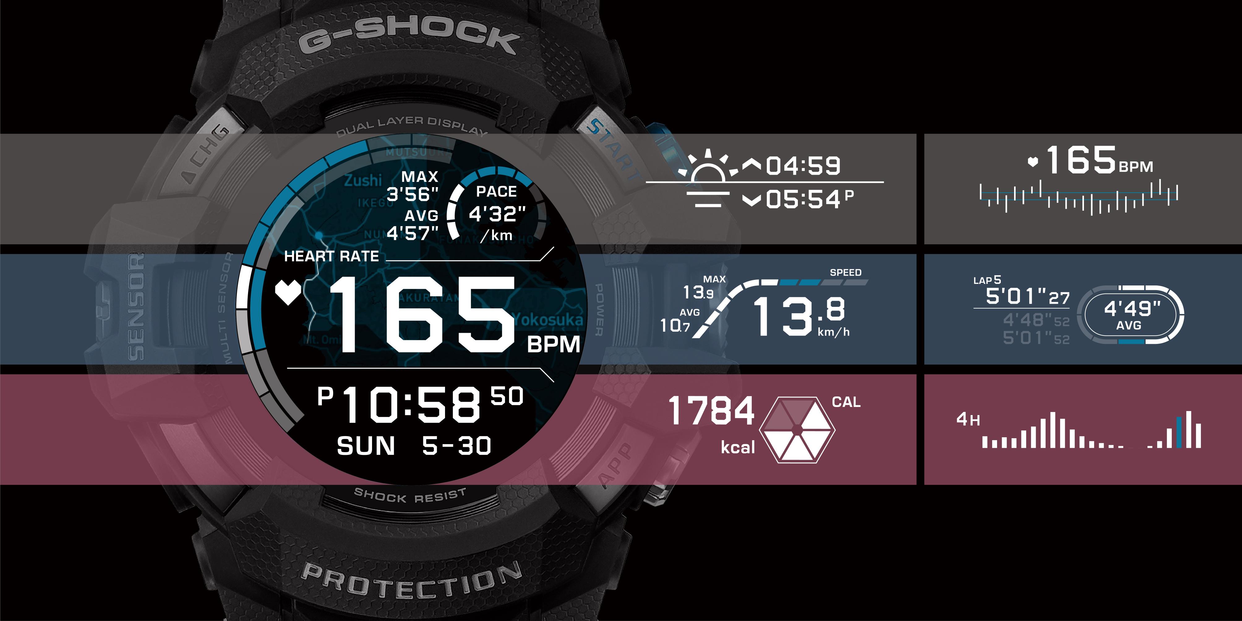 smartwatch Casio G-SQUAD PRO
