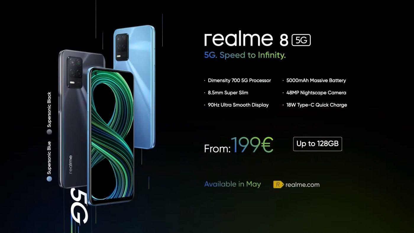 cena realme 8 5G w Europie