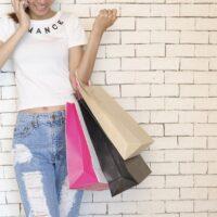 dziewczyna zakupy shopping torba