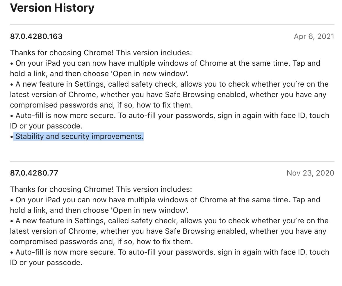 Google Chrome na iOS