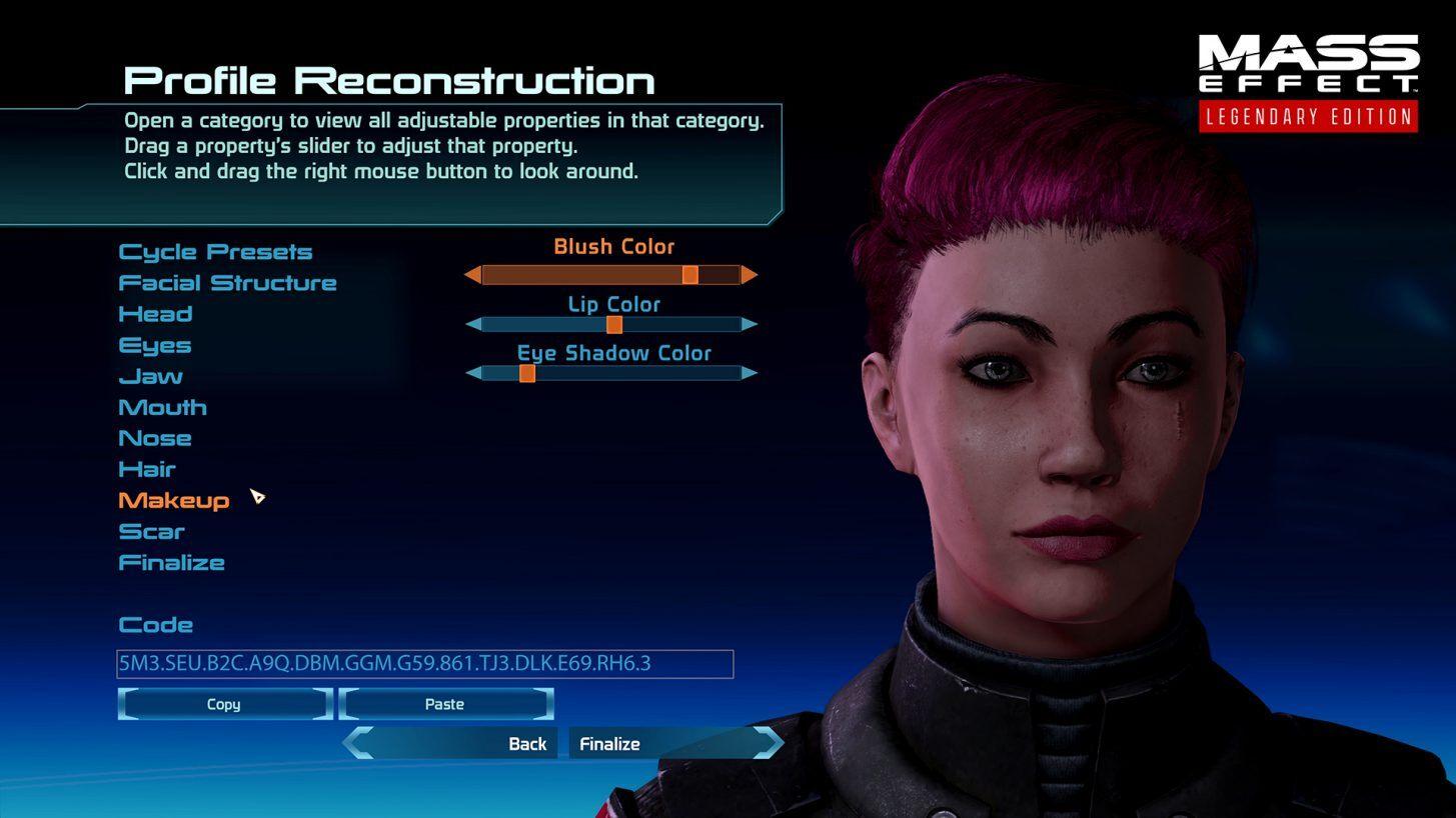 Mass Effect Legendary Edition - Kreator postaci