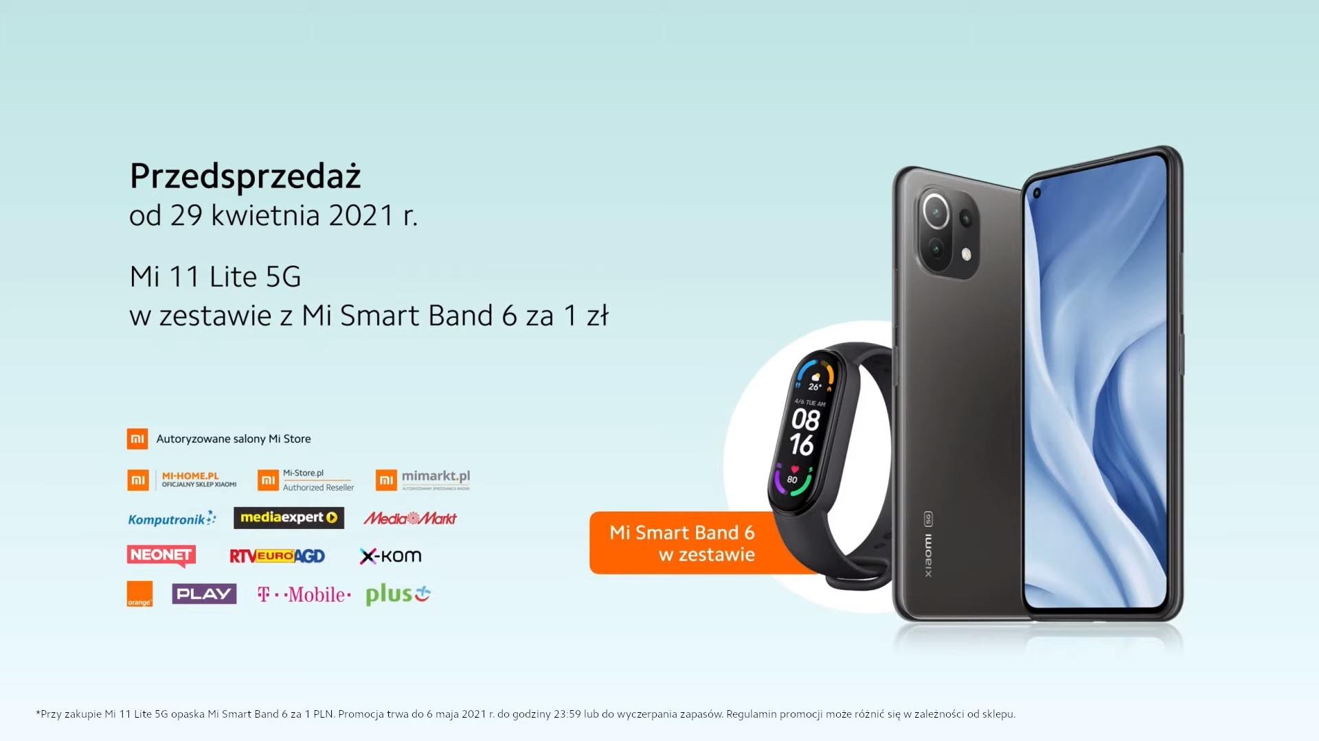 przedsprzedaż Xiaomi Mi 11 Lite 5G