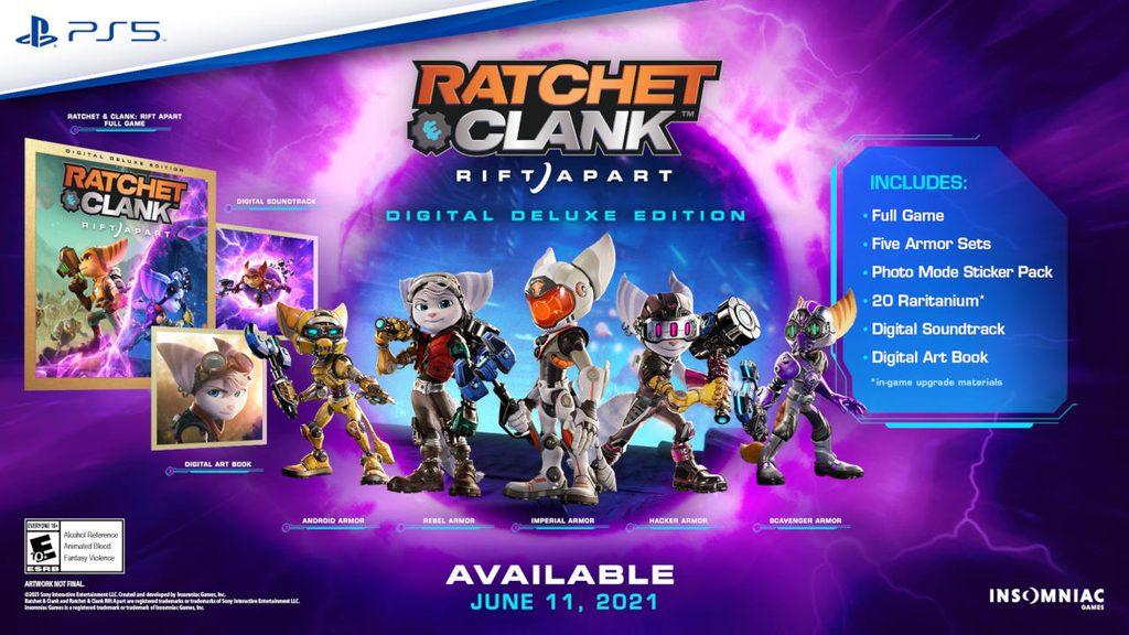 Pełna zawartość Ratchet & Clank: Rift Apart w edycji Digital Deluxe. Jak sądzicie, warto?