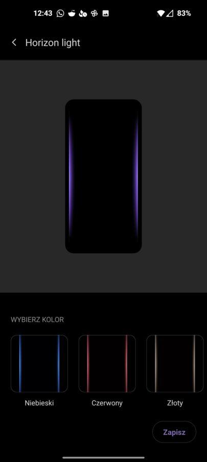 Recenzja OnePlus 9 5G - Ustawienia ekranu OxygenOS 11 - fot. Tabletowo.pl