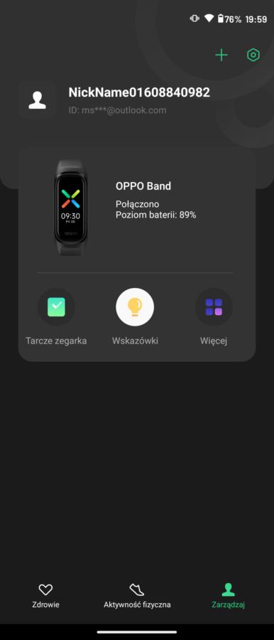 Recenzja Oppo Band - parowanie opaski - fot. Tabletowo.pl