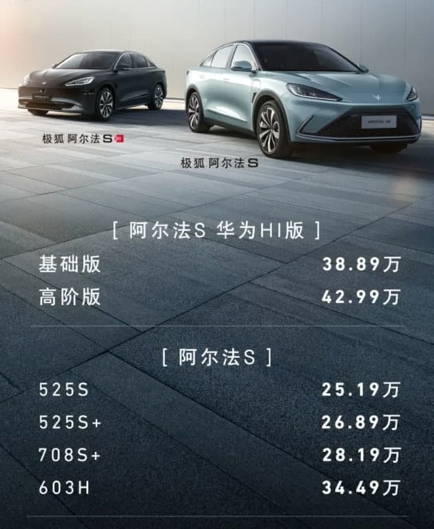 Broszura informacyjna samochodu elektrycznego Huawei