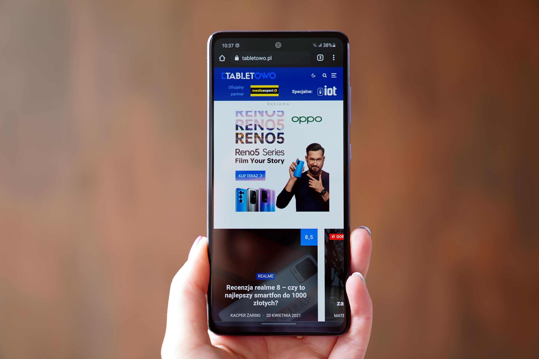 Nie wiemy, jak będzie wyglądał Galaxy A73, dlatego wrzucamy zdjęcie poprzednika