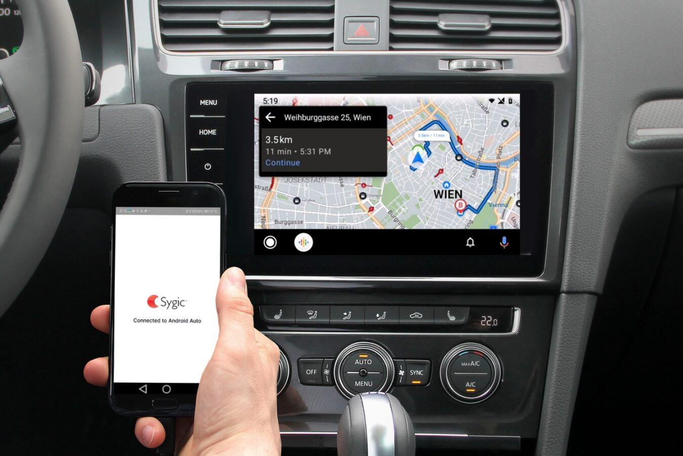 Sygic na Android Auto.