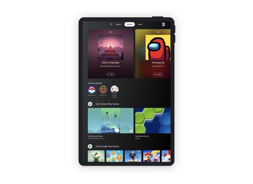 Google Entertainment Space tablet
