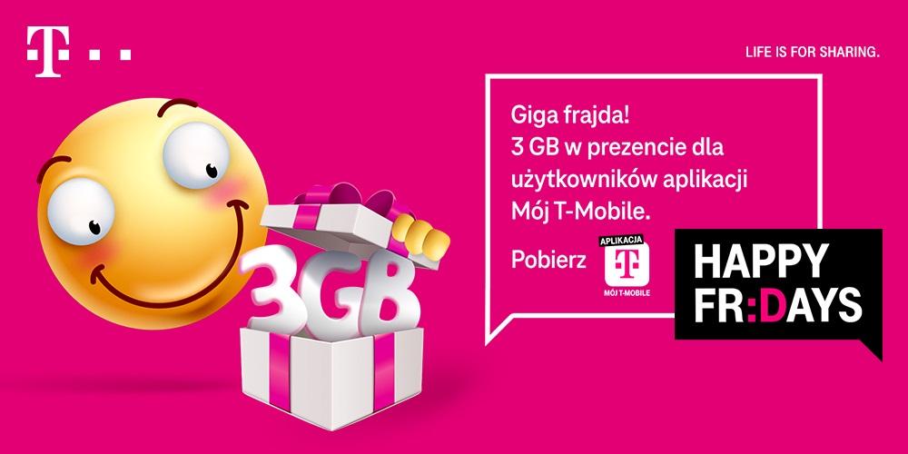 Happy Fridays promocja T-Mobile 3 GB internetu za darmo 14-16 maja 2021