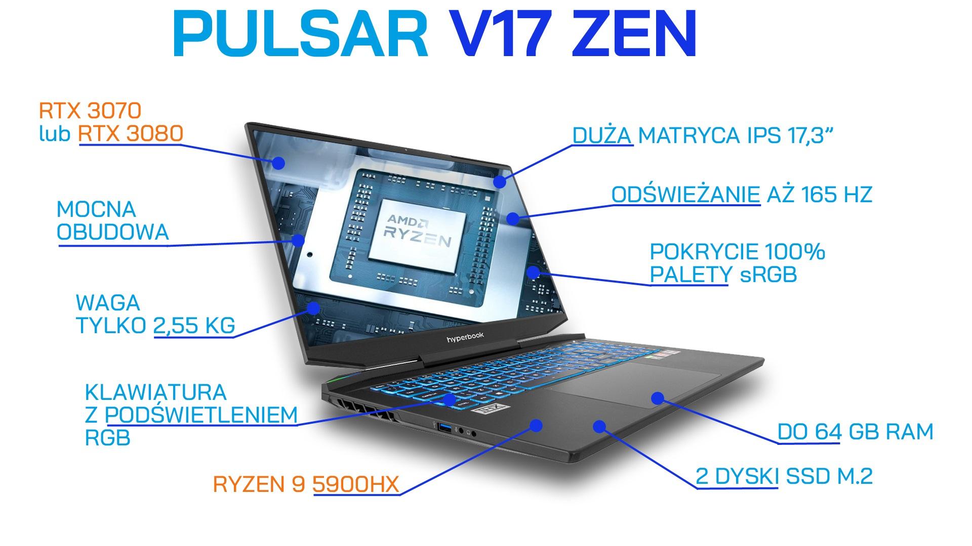 Hyperbook Pulsar V17 ZEN laptop