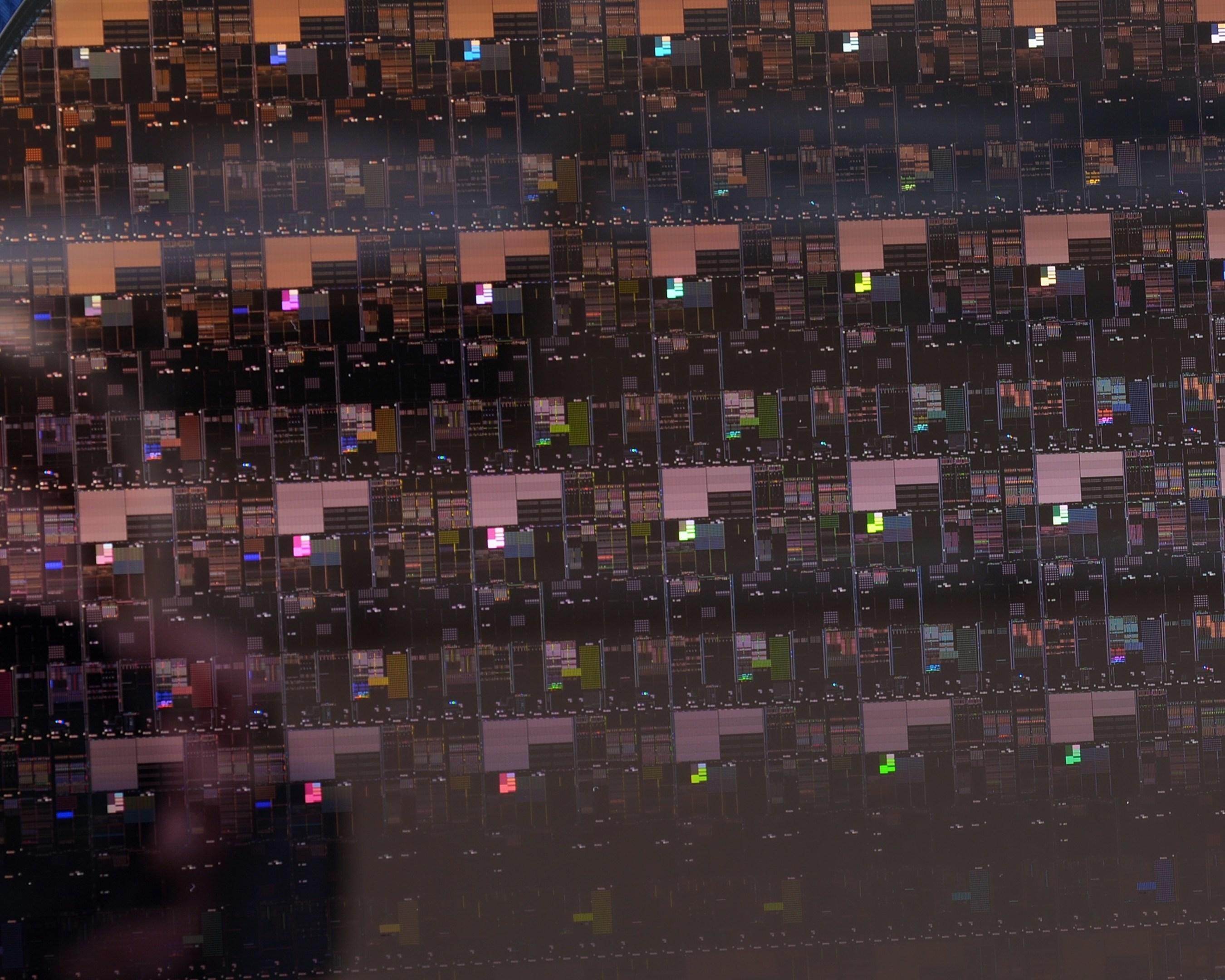 wafel krzemowy IBM chipy 2nm