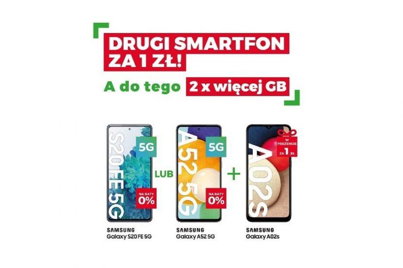 Plus drugi smartfon Samsung za 1 złoty promocja