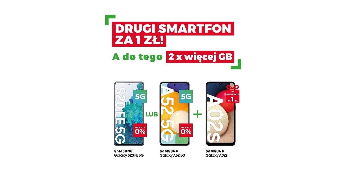 """Wiosenna promocja w Plusie: drugi smartfon Samsung za 1 złoty, a do tego """"gorące nowości"""""""