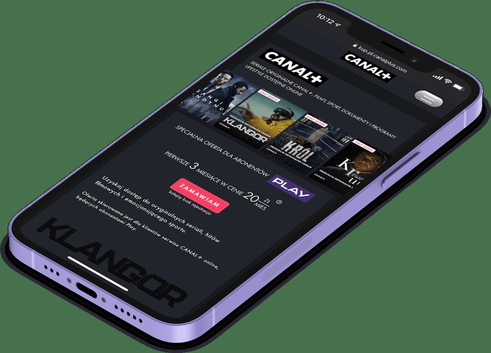Strona promocji w Play na CANAL+Online