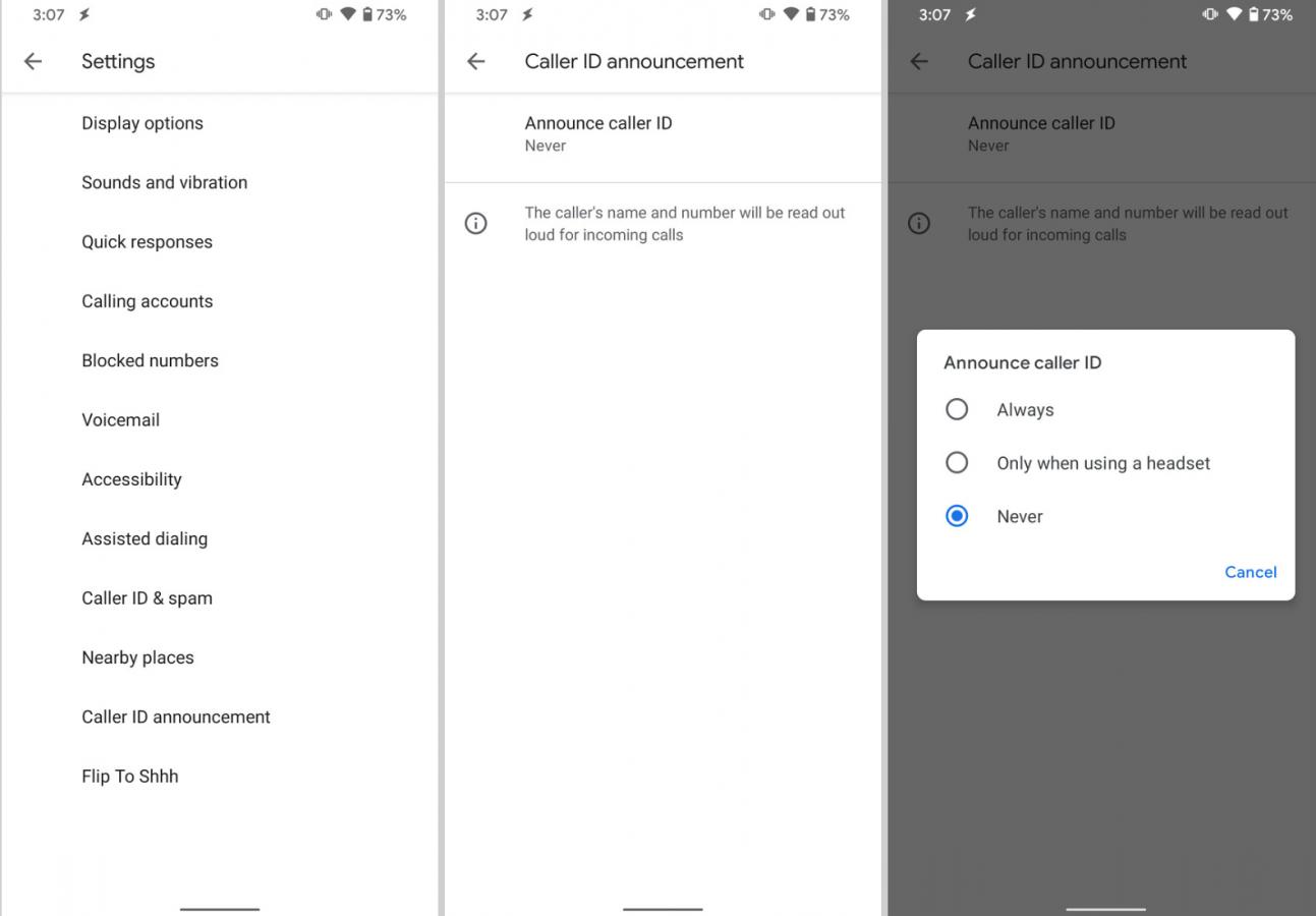 aplikacja Telefon Google