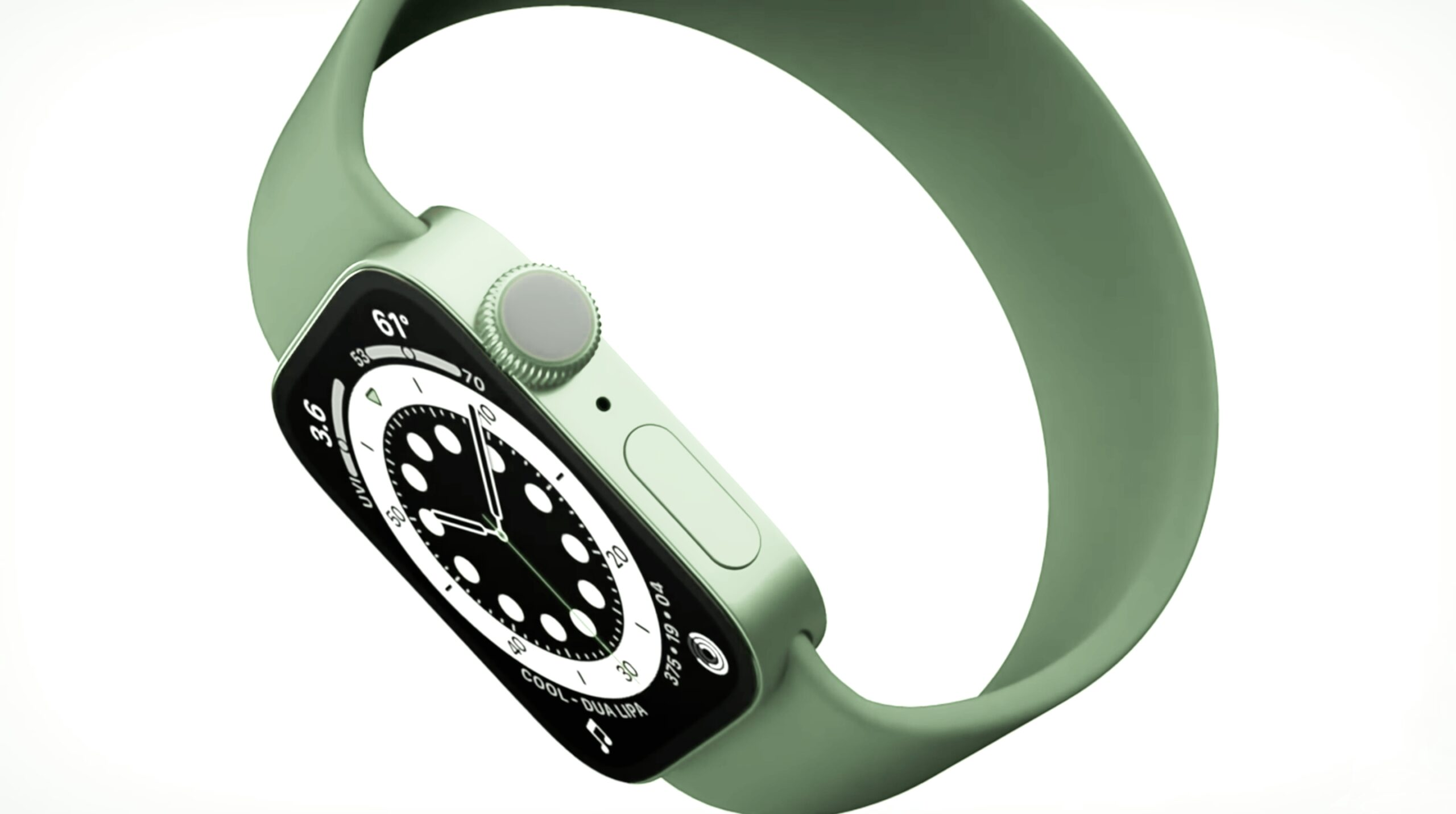 Apple watch series 7 smartwatch render