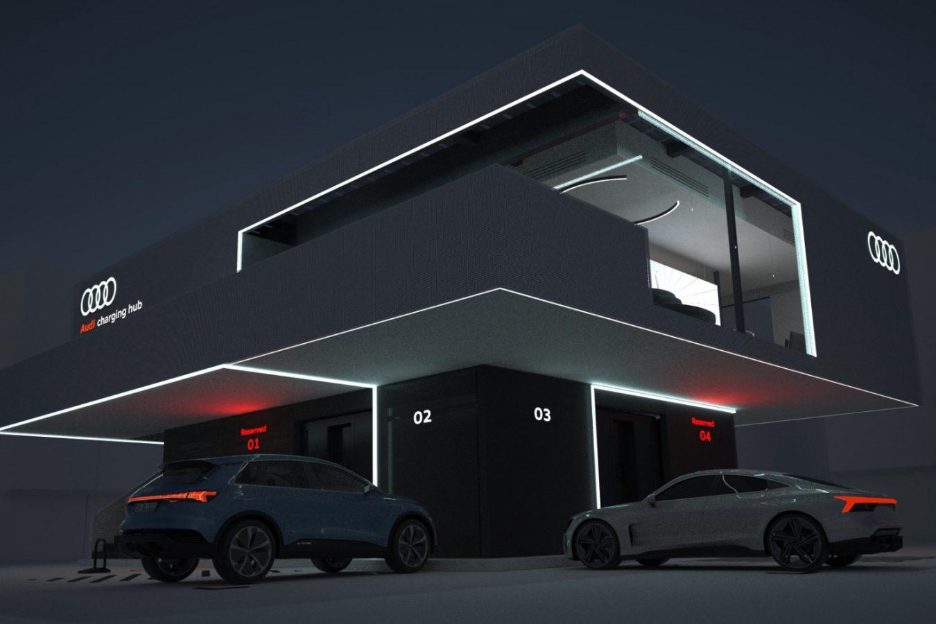 Audi centrum szybkiego ładowania